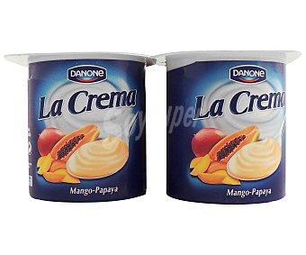 Danone Crema de yogur mango/papaya Pack de 4x125 g