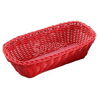 QUO Panera Rectangular en color rojo 1 Unidad
