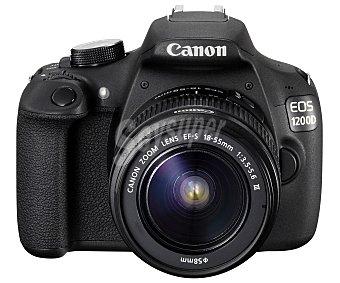 """Canon Cámara Reflex + objetivo 18-55 de alta definición, 18 Megapixeles, pantalla de 3"""" EOS 1200D"""