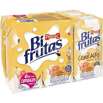 Bifrutas Pascual zumo de fruta con leche y vitaminas con cereales pack 6 envase 200 cl