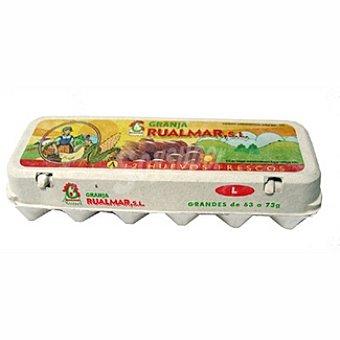 RUALMAR Huevos morenos clase L Estuche 1 docena