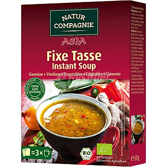 Natur Compagnie Sopa instantanea de verduras estilo asiatico Bio ecologica caja 79 g 79 g