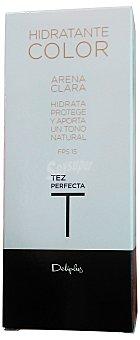 Deliplus Crema facial hidratante color arena clara Tubo de 30 cc