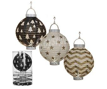 Edelman Set de 4 colgantes con formas de lámparas chinas de papel de 22x22 centímetros y con 1 led en su interior )
