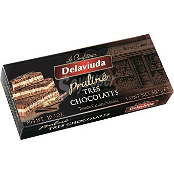 DELAVIUDA Praliné Tres chocolates Calidad Suprema tableta 300 g Tableta 300 g