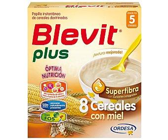 Blevit superfibra papilla instantánea de 8 cereales con miel desde los 5 meses  caja 600 g