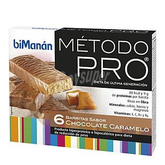 Bimanán Barrita de sabor chocolate caramelo 162 g (6 unidades)