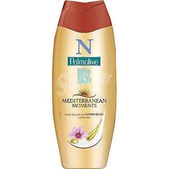 Palmolive Gel de baño NB Mediterranean Moments con Aceite de Argán de Marruecos y Almendras  botella 500 ml