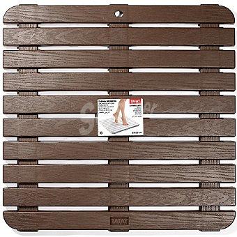 Tatay Tarima de ducha fabricada en PP con textura imitando la madera 55 x 55 cm