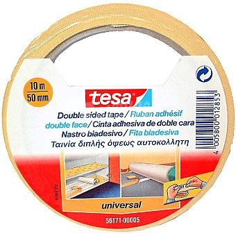 TESA 56171 Cinta adhesiva doble cara universal envase 10 m x 50 mm