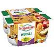 Especialidad fresca de soja con trozos de frutas y muesli Pack 4 envase 100 g Sojasun