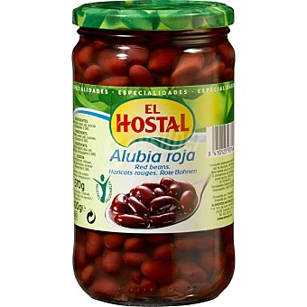 El Hostal Alubia roja cocida Frasco 400 g