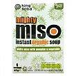 Sopa de miso con calabaza y verduras ecológica Pack de 6 sobres de 60 g King Soba