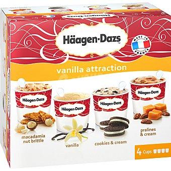 Häagen-Dazs Tarrinas de helado varios sabores Vanilla Attract 4 unidades de 100 ml