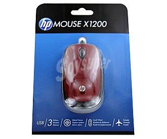 HP Ratón óptico con cable USB Rojo - H6F01AA