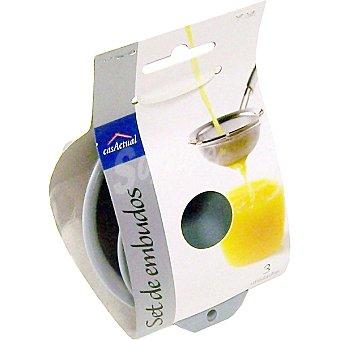 CASACTUAL Embudo de plástico set  3 unidades