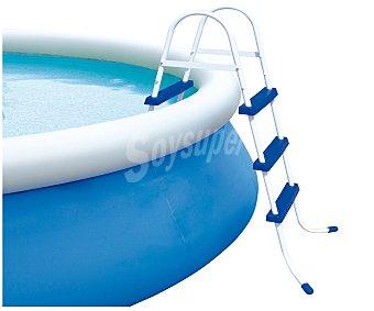 BESTWAY Escalera para piscinas de 91 centímetros de alto, de metal galvanizado y plástico de alta calidad resistente a la corrosión Escalera 91 cm