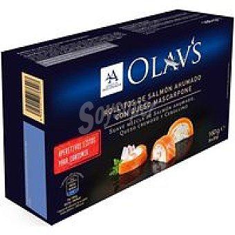 Olav Rollitos de salmón ahumado con queso mascarpone Caja 160 g