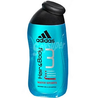 Adidas gel de baño Water Sports Hair & Body Frasco 400 ml