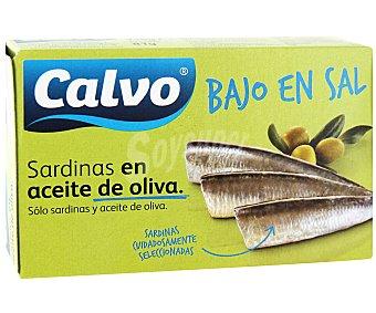 Calvo Sardinilla en aceite de oliva bajo en sal Lata 90 g