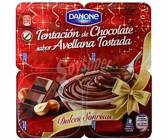 DANONE Chocolate avellana tostada Dulces Sonrisas 4x115g