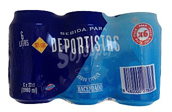 Hacendado Bebida isotónica natural Lata pack 6 x 33 cl - 1980 ml