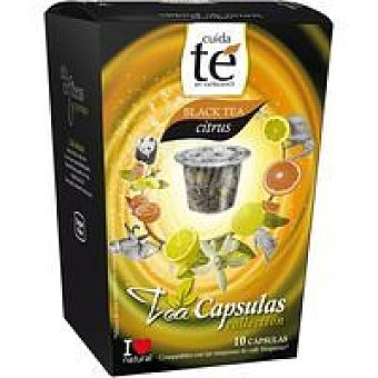 Cuida Té Té negro citrus 10 cápsulas