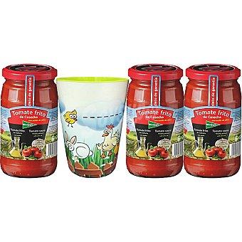 El Corte Inglés Tomate frito de cosecha en aceite de oliva pack 3 frasco 350 g con regalo de un vaso Pack 3 frasco 350 g