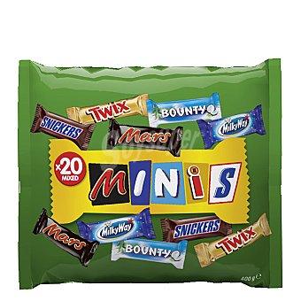 Mars Surtido de 21 mini chocolatinas surtidas Bolsa 400 g