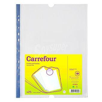 Carrefour Funda multitaladro pp bolsa 25 folio 70 micras 25 unidades