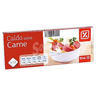 DIA Caldo sabor carne Estuche 12 pastillas