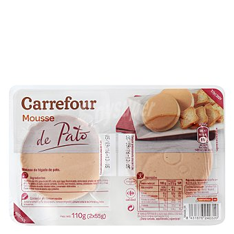 Carrefour Paté Mousse de pato 110 g