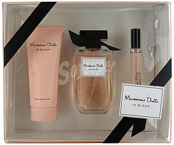 Massimo Dutti Lote mujer in black eau toilette 80 ml + leche corporal 100 ml + vial 15 ml unidad
