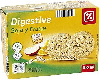 DIA Galleta digestive soja fruta Caja 800 g