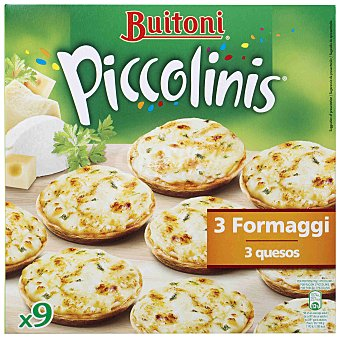 Buitoni Piccolinis Mini pizzas Piccolinis 3 formaggi 9 unidades (270 g)