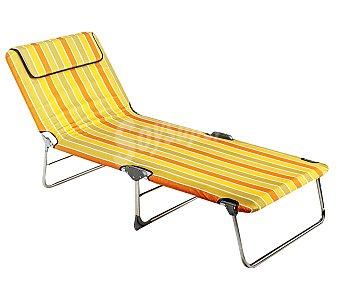ALCO Cama plegable para camping y playa. Fabricada en aluminio, con acolchado en toda su superficie de 5 centímetros 1 unidad