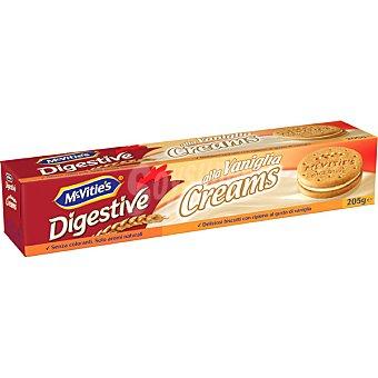 McVities galletas digestive rellenas de crema de vainilla estuche 205 g