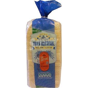 El Corte Inglés pan de molde blanco 100% natural sin corteza 20 rebanadas  bolsa 450 g