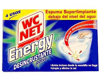WC Net Limpiador energy polvo activo 4 bolsas 252 gramos