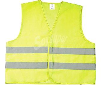 Impex Chaleco de seguridad de color amarillo con doble banda reflectante y válido de las talla M a XXL impex