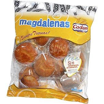 Codan Free magdalenas sin conservantes ni colorantes ni grasas hidrogenadas  bolsa 350 g