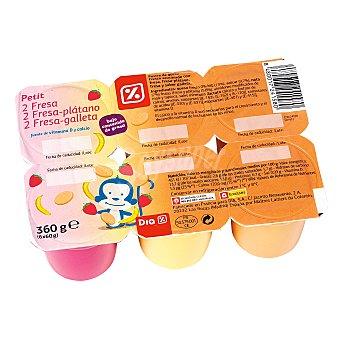DIA Petit suisse panache Pack 6 unidades 60 g