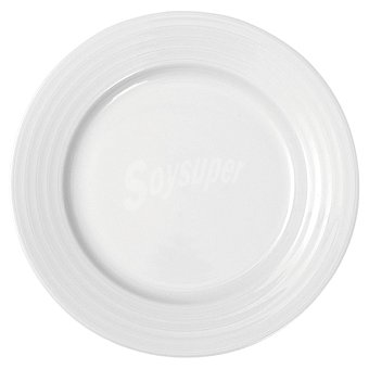 Casactual Roulette Plato llano redondo en color blanco 25 cm