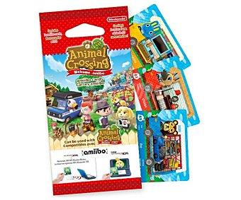 Nintendo Pack de 3 tarjetas interactivas Amiibo New Leaf 1 unidad
