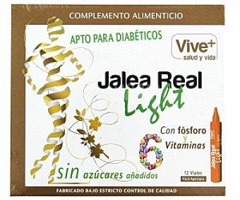 VIVE PLUS SALUD Y VIDA Jalea Real Light apta para diabéticos, con fósforo y 6 vitaminas, 12 Dósis