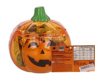 Miguelañez Calabaza Halloween transparente con asa y caramelos surtidos envase 100 g Envase 100 g