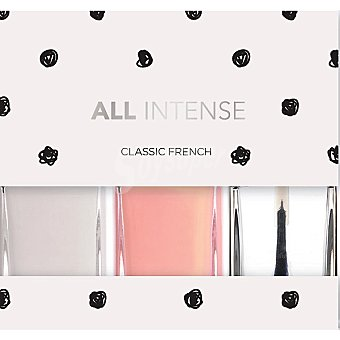 All Intense Laca de uñas Classic French pack 3 frasco 10 ml pack 3 frasco 10 ml
