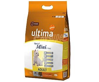 Ultima Affinity Rico en pollo y arroz para perros de 1 a 10 kg Adult Special Mini Bolsa 3 kg