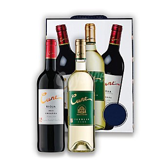 "Cune Lote 77: Estuche de 2 vinos D.O. Ca. ""rioja"" tinto crianza + 1 vino D.O. ""rueda"" verdejo Pack 3x75 cl"