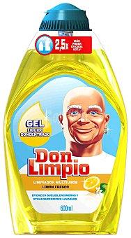 Don Limpio Limpiador hogar multiusos limón 600 Mililitros